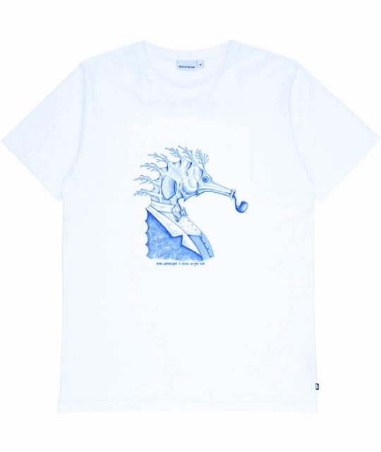 T-Shirt Seahorse -Blanc