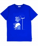 T-Shirt Salon Coiffure - Bleu